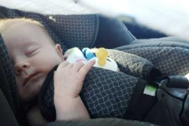 milkid in a carseat